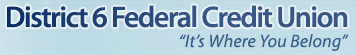 District 6 Federal Credit Union Logo