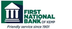 First National Bank of Kemp Logo